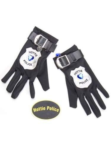 Hottie Police Gloves & Badge  Dancewear Australia