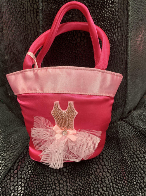 Bag - Pink Satin with Tulle Tutu  Dancewear Australia