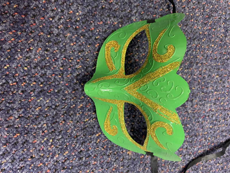 Mask - Green with Gold Trim