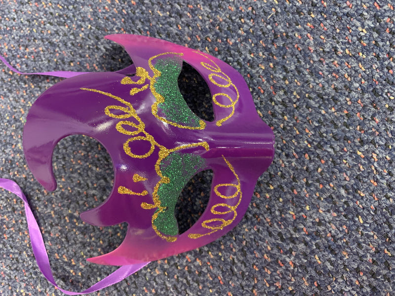 Mask - Purple with Green/Gold