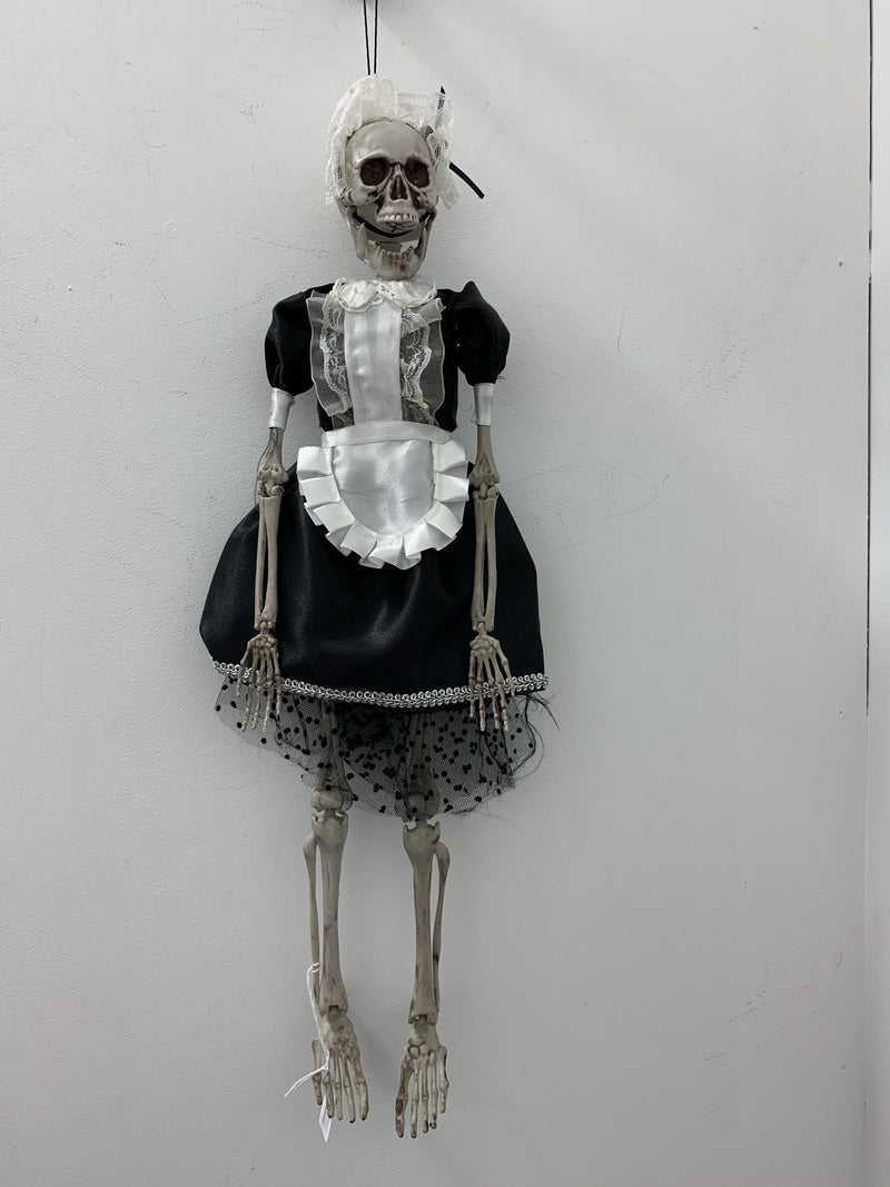 Skeleton - Female in Black Maid Costume  Dancewear Australia