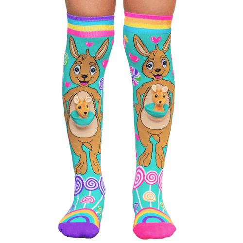 mad mia socks kangaroo australia crazy novelty shoes  dancewear