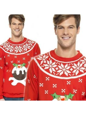 Light up Christmas Pudding Jumper (Adult M)  Dancewear Australia