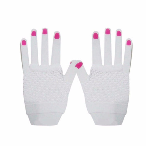 Short Fishnet Gloves - White  Dancewear Australia