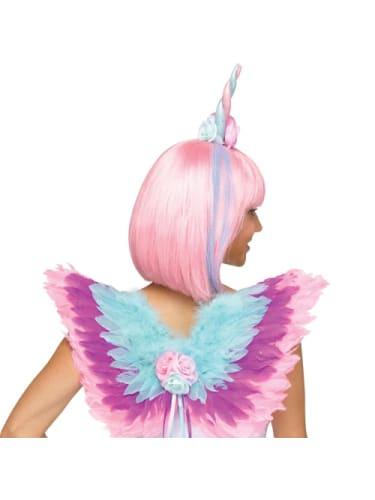 Magical Unicorn Headpiece & Wings Costume Sale