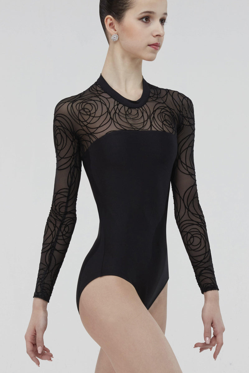 long sleeve black leotard
