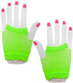 Short Fishnet Gloves - Lime  Dancewear Australia