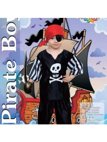 Pirate Boy 7-9  Dancewear Australia, fancy dress costume, pirate costume, pirate eye patch, childrens fancy dress, book week costume