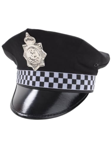 Police Cap - Black  Dancewear Australia Police Officer Hat