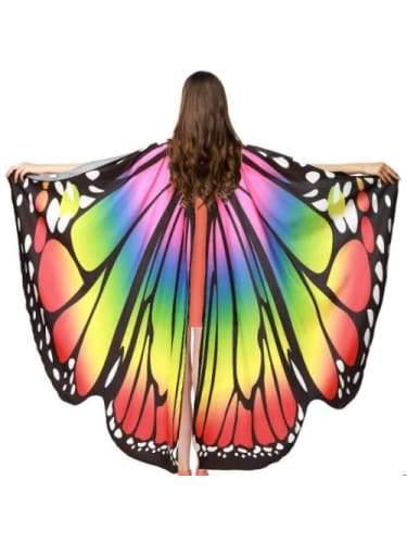 Rainbow Butterfly Cape  Dancewear Australia