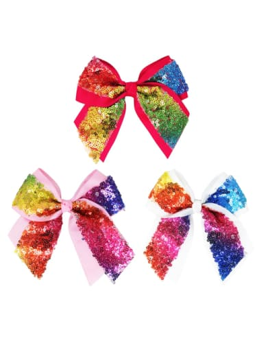 Rainbow Sequin Bow  Dancewear Australia