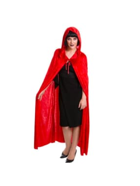 Red Cape Velvet with Hood  Dancewear Australia