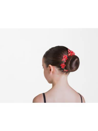 Ruby Sparkle Hairpiece - Red  Dancewear Australia