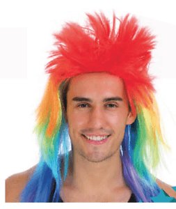 Spiky Punk Rock Rainbow Wig