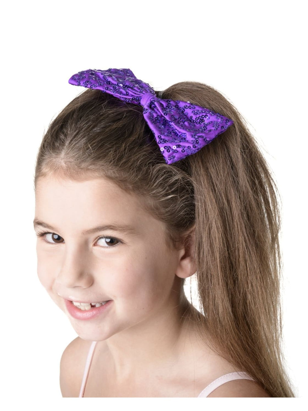 Sequin Bow Medium Purple HairAccessories