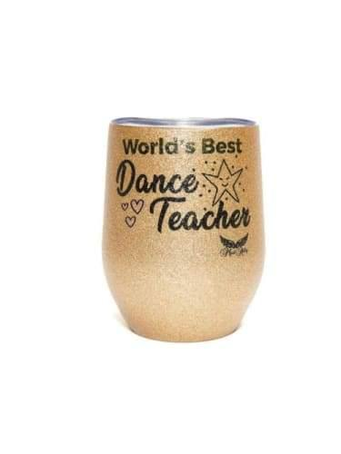 Stemless Glitter Mug - Worlds Best Dance Teacher  Dancewear Australia