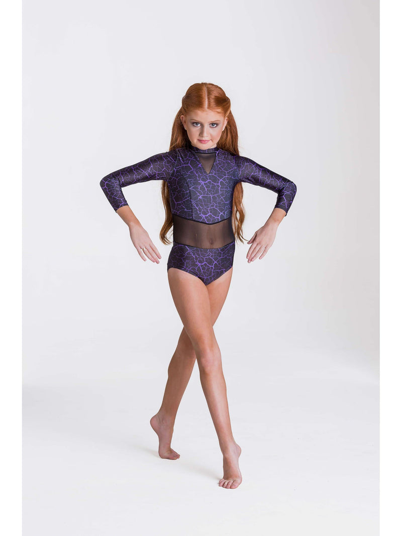 Storm Leotard - Purple/Black  Dancewear Australia