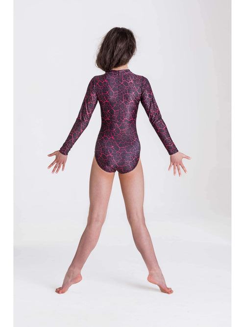 Storm Leotard - Red/Black  Dancewear Australia
