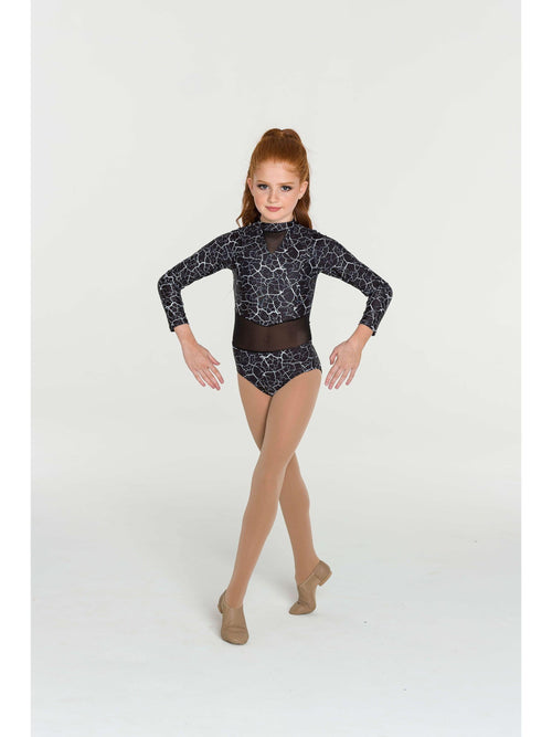 Storm Leotard - White/Black  Dancewear Australia