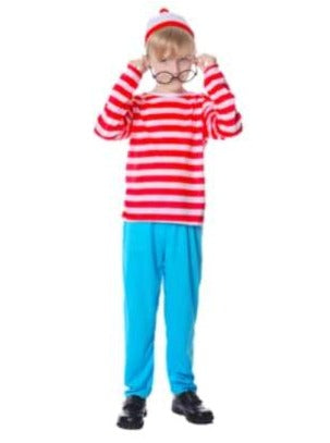 Where's Wally Complete Costume Set - Child Sale
