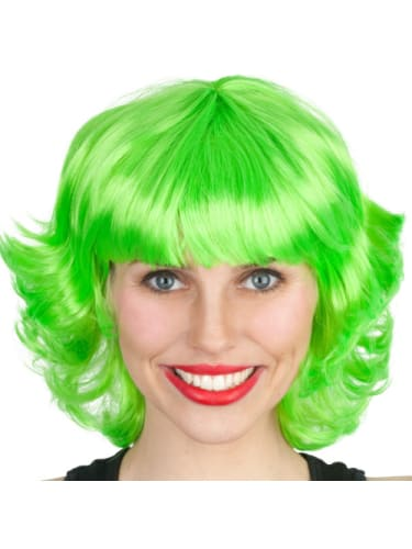 Wig - French Lime Green  Dancewear Australia