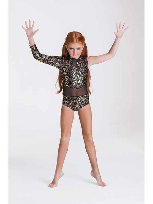 Wild Things Leotard - Gold  Dancewear Australia