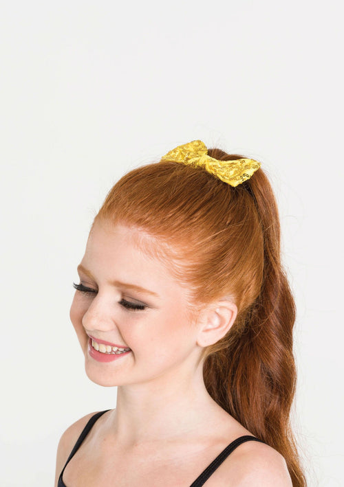 Sequin Bow Medium  Dancewear Australia