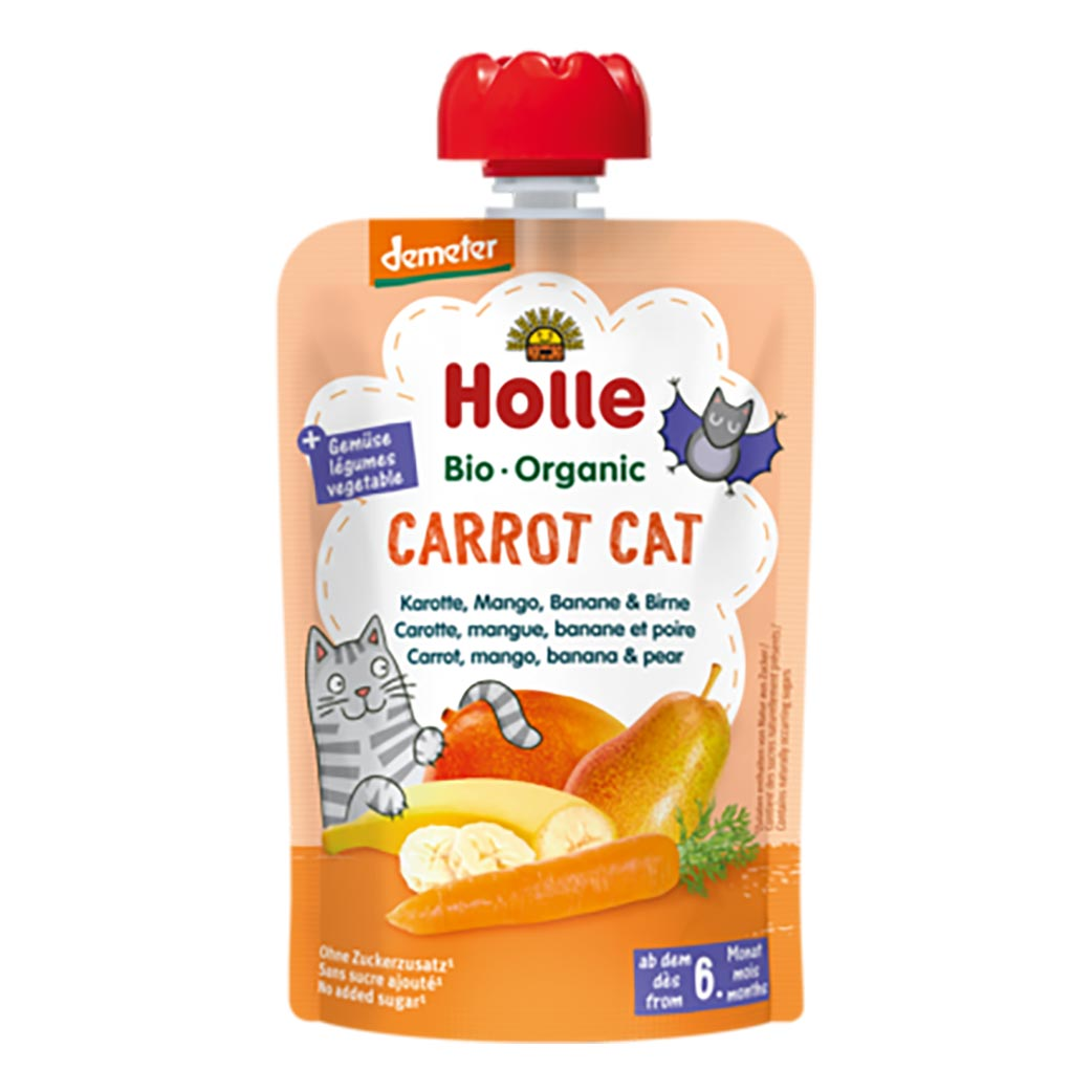 12 Pack Holle Organic Purée - Carrot Cat (100g)