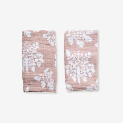 Organic Cotton Burp Cloth Set Inverse Parsnip Mauve by Lewis