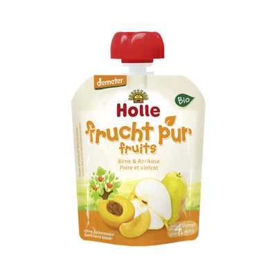 Holle Organic Purée of Pear and Apricot (90g)