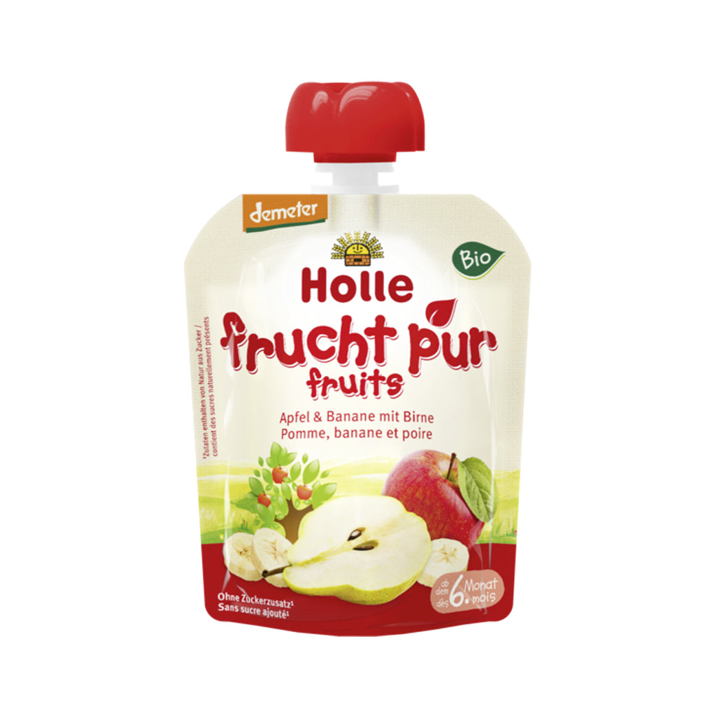 Holle Organic Purée of Apple, Banana and Pear (90g)