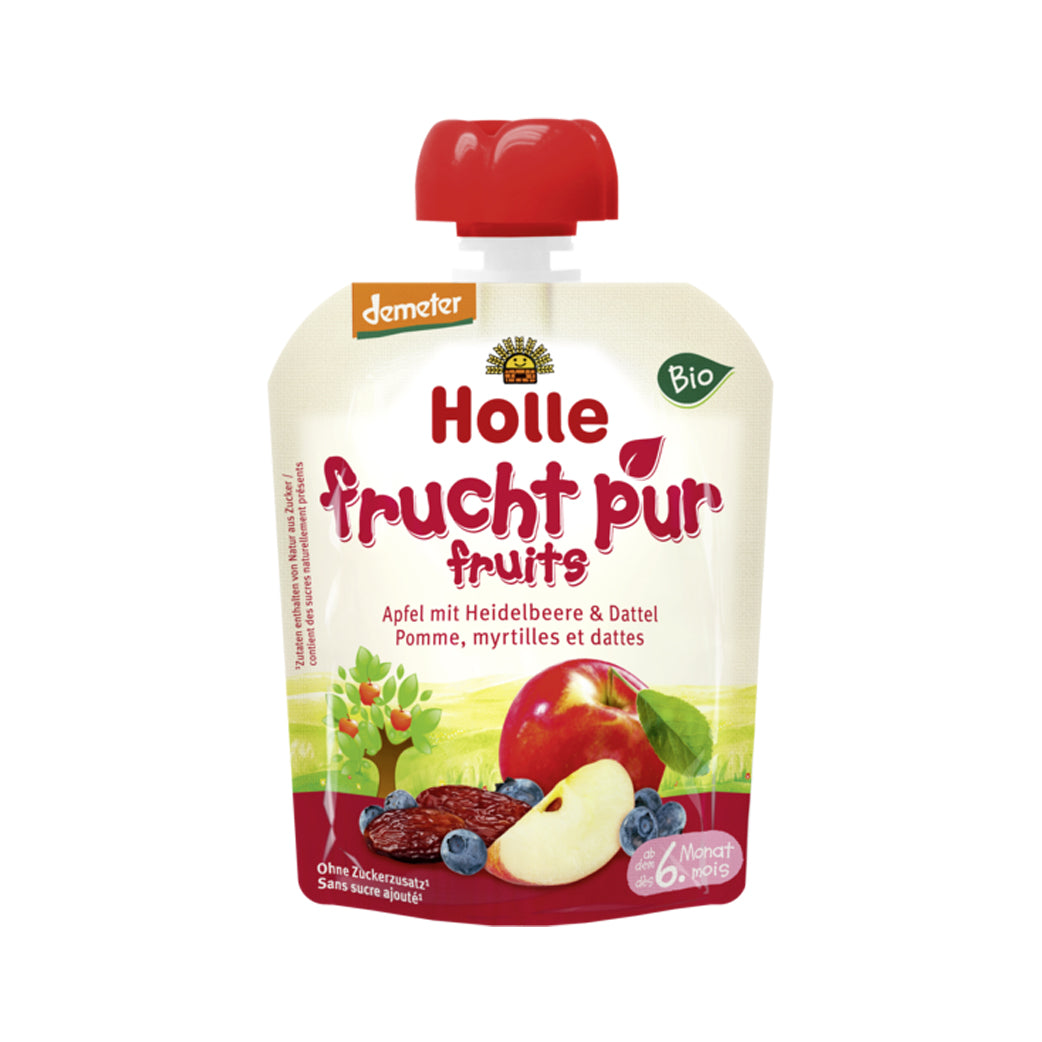 Holle Organic Purée of Apple, Blueberry, and Dates (90g)