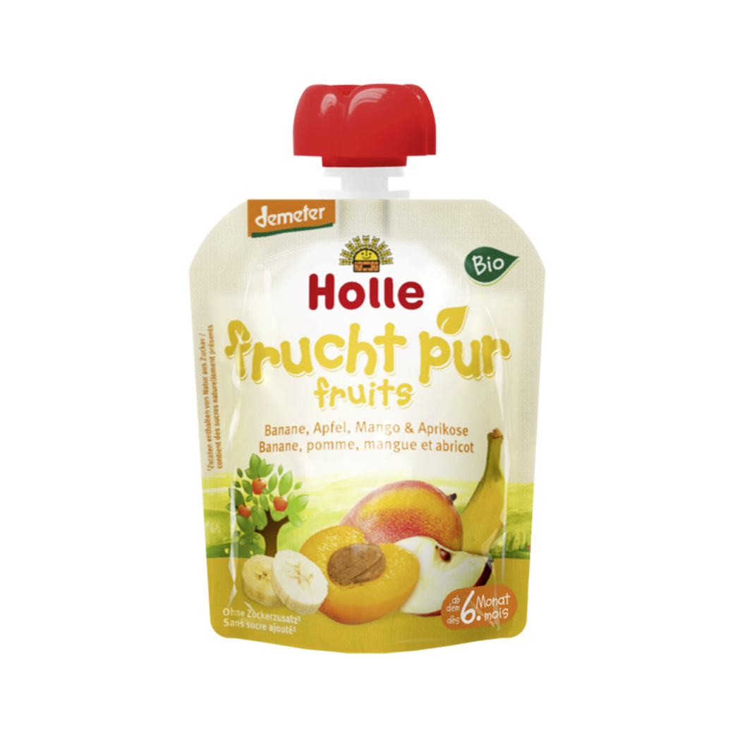 Holle Organic Purée of Banana, Apple, Mango, and Apricot (90g)