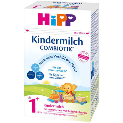 HiPP 1+ Years Combiotic Kindermilch (Toddler Milk) Formula (600g) - German