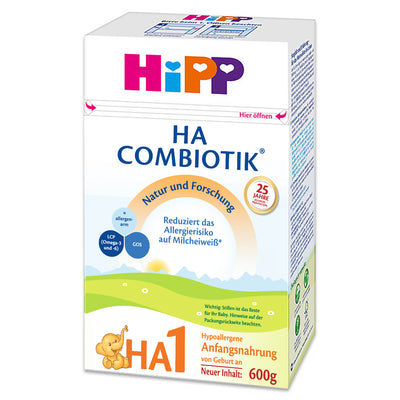 UGLY BOX HiPP Hypoallergenic (HA) Stage 1 Combiotic Formula (600g) - German