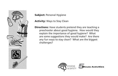 5 Minute Hygiene & Safety Activities for Elementary Students