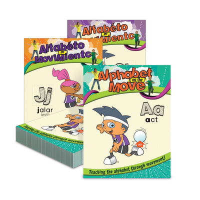 Alphabet on the Move English-Spanish Alphabet Cards