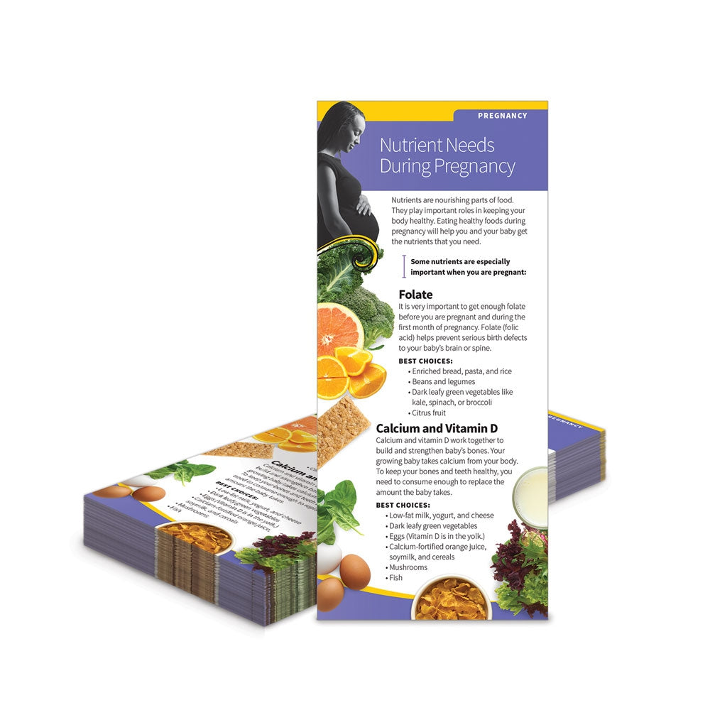 Nutrient Needs During Pregnancy Education Cards