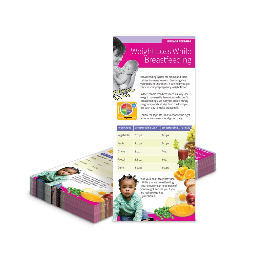 Weight Loss While Breastfeeding Education Cards