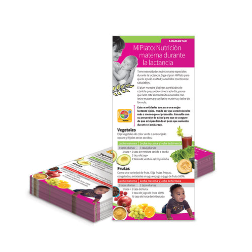 MyPlate: Nutrition While Breastfeeding Spanish Education Cards