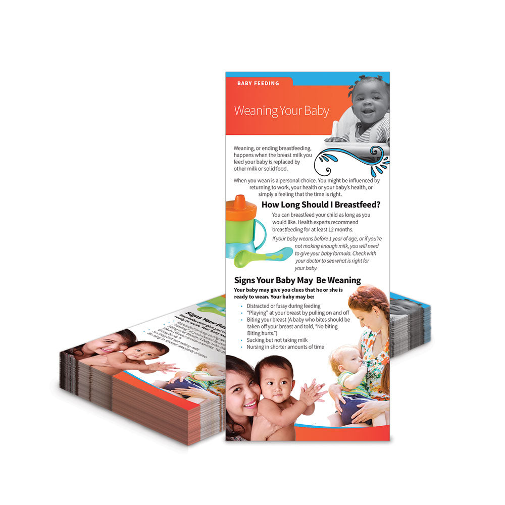 Weaning Your Baby Education Cards