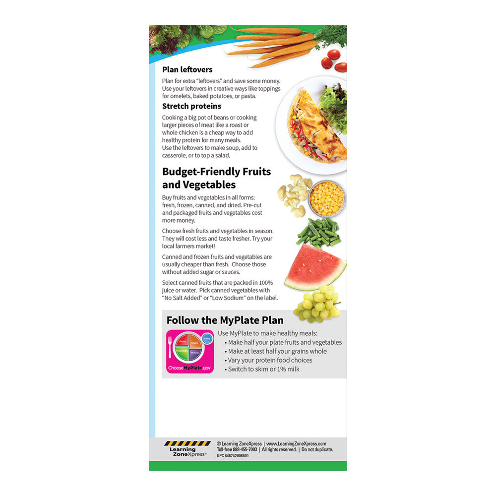 Healthy Eating on a Budget Education Cards