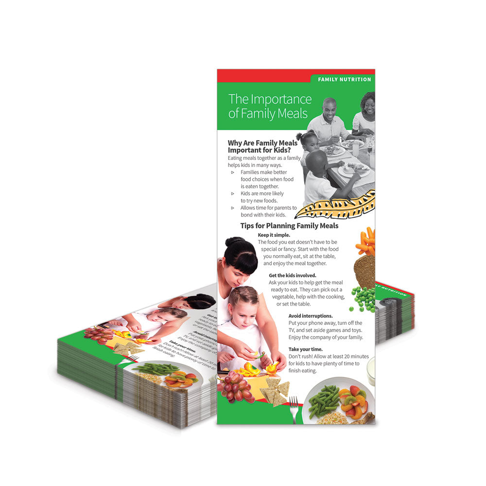 The Importance of Family Meals Education Cards