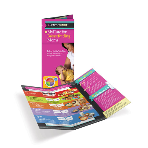 MyPlate for Breastfeeding Moms Tri-Fold Brochures