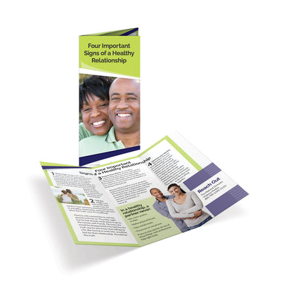Four Important Signs of a Healthy Relationship Tri-Fold Brochures