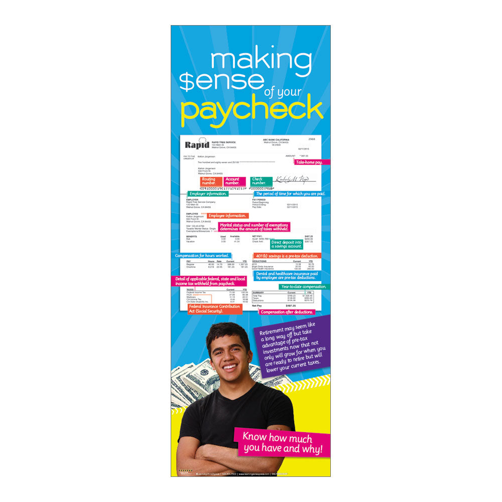Making sense of your paycheck poster