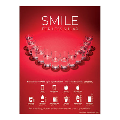 Smile for Less Sugar Poster