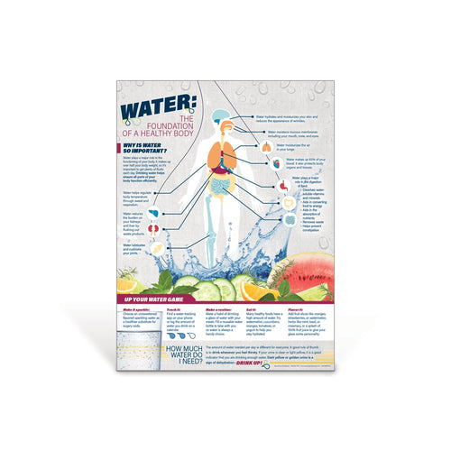 Water: The Foundation of a Healthy Body Poster