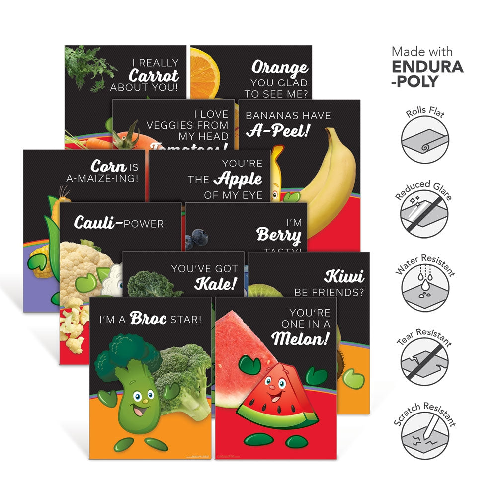 Fruit & Vegetable Garden Heroes® Endura-Poly Poster Set