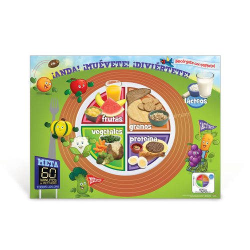 Active Kids MyPlate Spanish Poster
